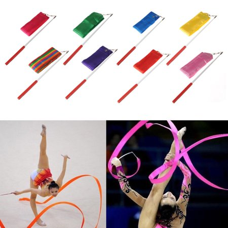 - 4M Dancing Ribbon ,Streamer Dance Gym Rhythmic Ribbons with Wand Art Artistic Gymnastics Ballet Twirling Rod Stick for Women Girls Kids Christmas Decoration Christmas decor Gift