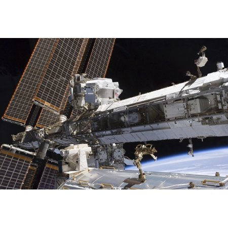 The starboard truss of the International Space Station Poster Print
