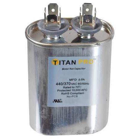 TITAN PRO TOCF7.5 Motor Run Capacitor, 7.5 MFD, 2-3/4 In. H