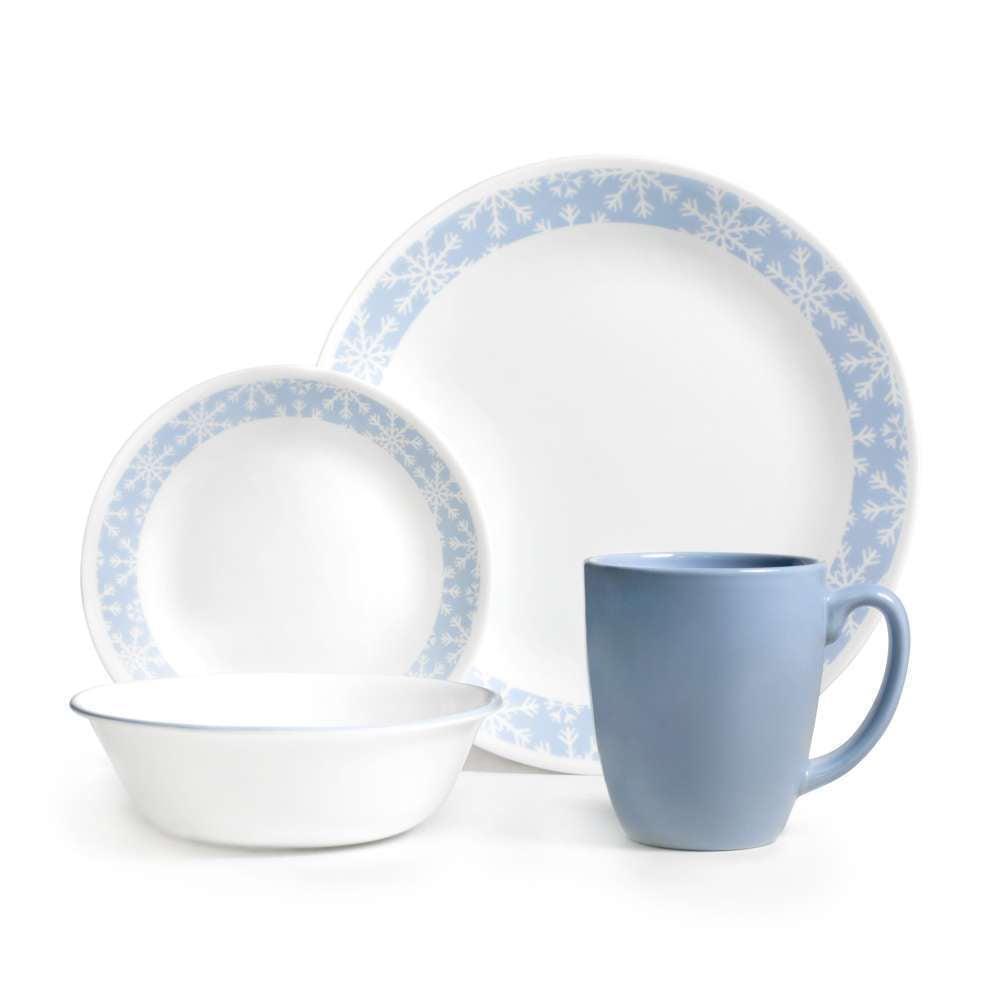 sc 1 st  Walmart & Corelle Livingware 16-Piece Dinnerware Set Crystal Frost - Walmart.com
