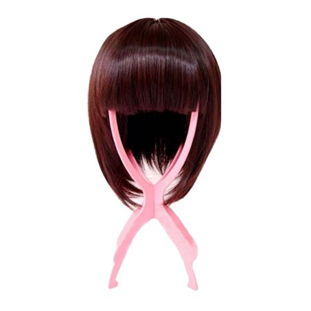 Pink Plastic Wig Stand Folding Hair Head Hat Cap Holder Hairpiece Display Stable Tool Accessory - image 5 of 5
