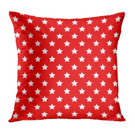 ECCOT Red American Stars Pattern Cartoon Patriotic Abstract America Celebrate PillowCase Pillow Cover 16x16 inch](Patriotic Pillows)
