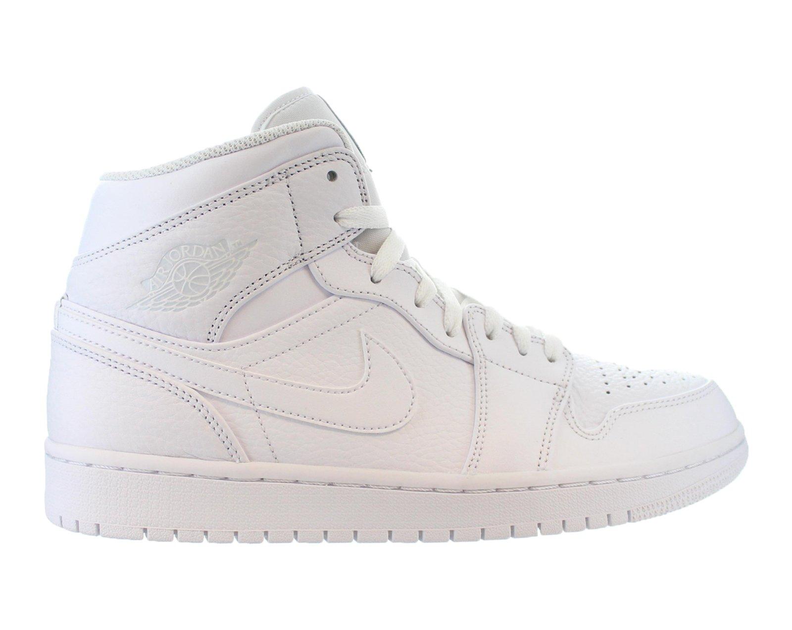 37769b9ca33b1b Air Jordan - Mens Air Jordan 1 Mid White Pure Platinum 554724-109 ...