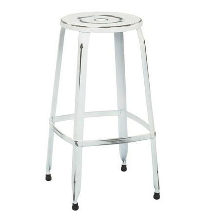 Brilliant Newark 30 Metal Barstool In Antique White Finish 4 Pack Fully Assembled Pdpeps Interior Chair Design Pdpepsorg