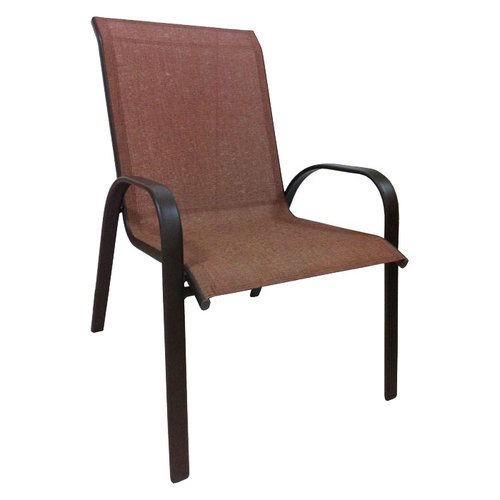 Mainstays Oversized Stacking Sling Chair Tan Walmartcom