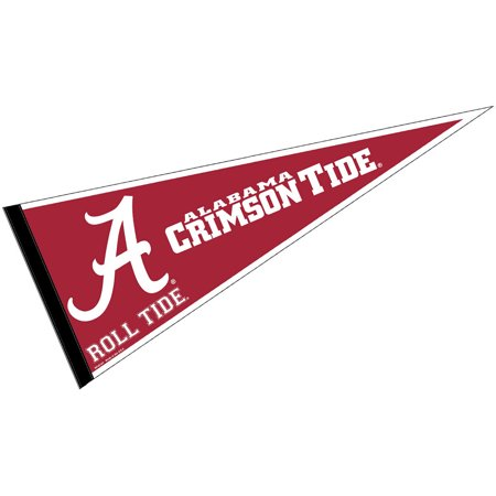 "alabama crimson tide a logo 12"" x 30"" felt college pennant"