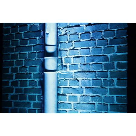 Masonry Wall Tie - LAMINATED POSTER Night Blue Masonry Wall Background Poster Print 24 x 36