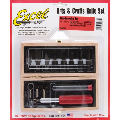 Woodworking Set, Wooden Box, Carded Multi-Colored