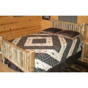 Small Spindle Log Bed (Unfinished, King)