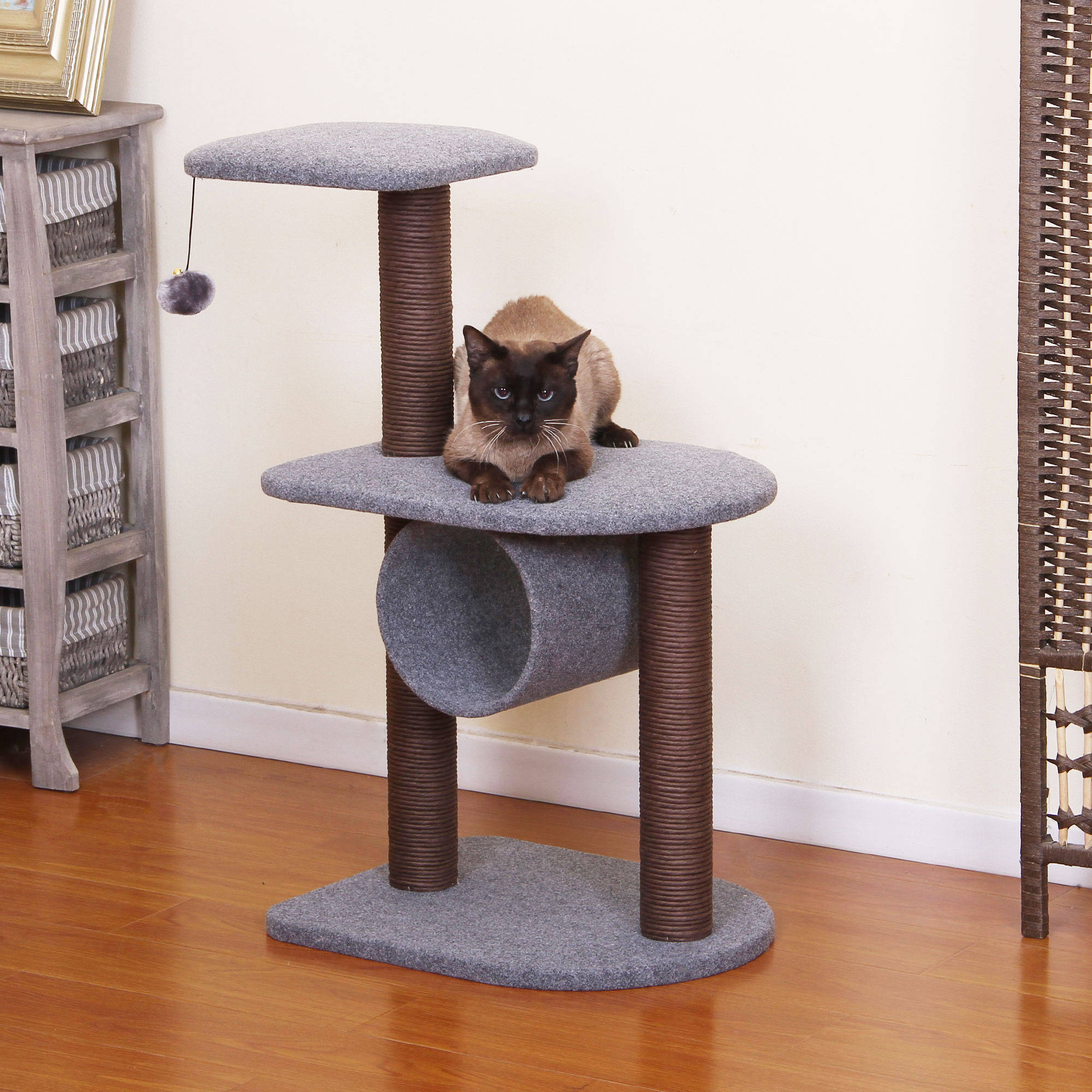 PetPals Group Teeny Chocolate and Grey Color Cat Tree