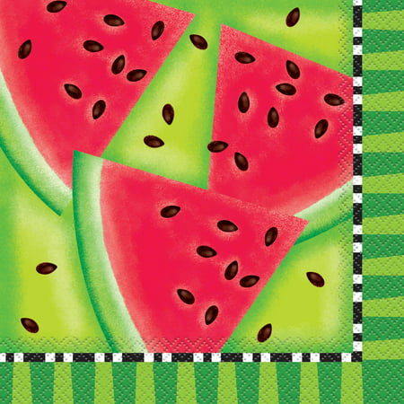 Watermelon Summer Party Lunch Napkins, -