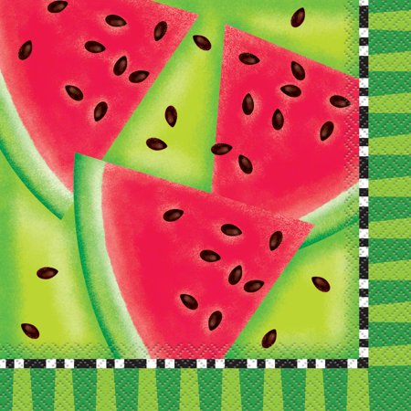 Watermelon Summer Party Lunch Napkins, - Watermelon Party Ideas