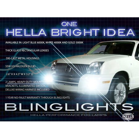 New 2006 2007 2008 2009 2010 Mercury Mountaineer Fog Lamps Driving Lights ()