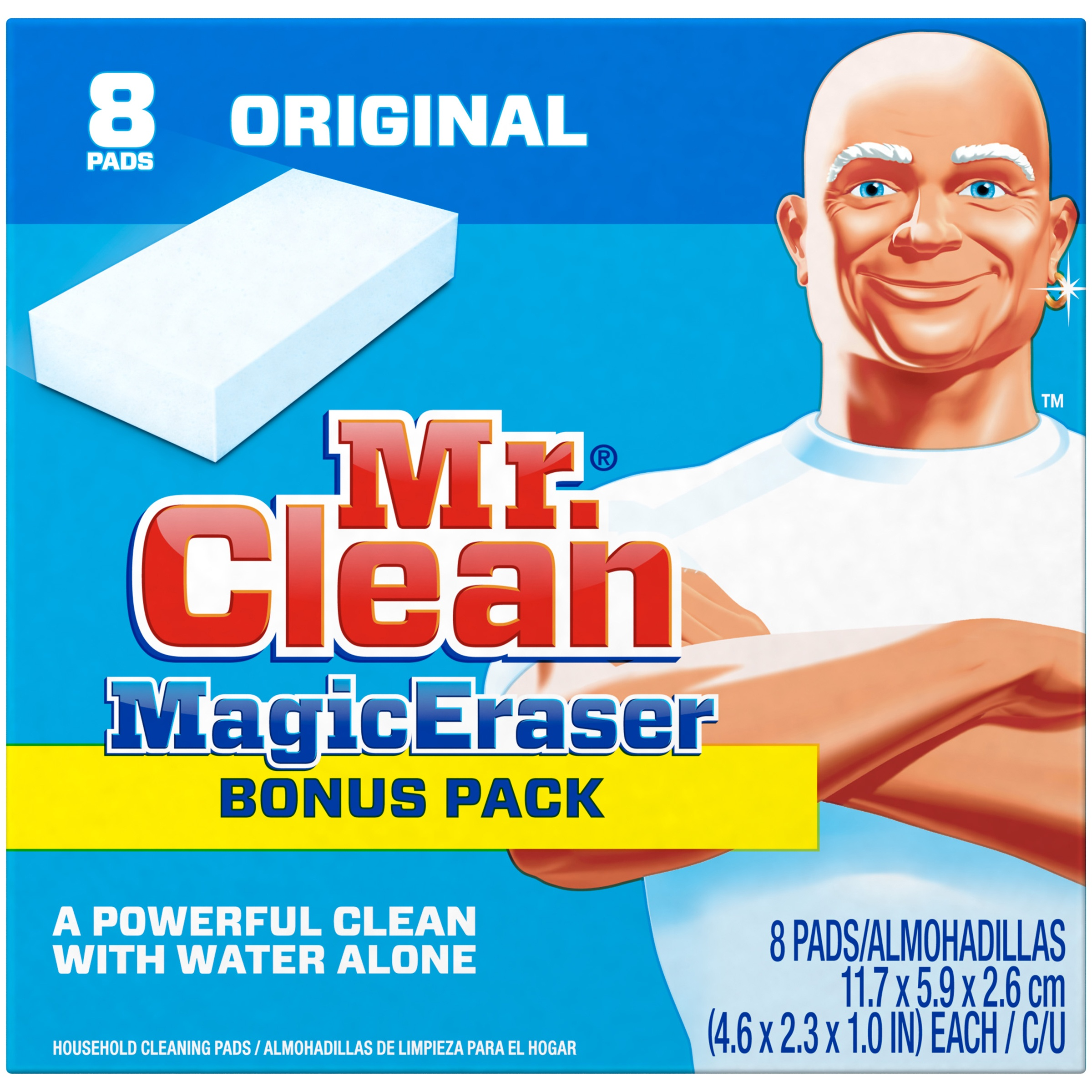 Mr. Clean Magic Eraser Original Household Cleaning Pads, 8 count