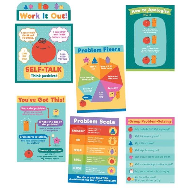 Carson Dellosa Social Problem Solving Bulletin Board Set Classroom Décor 7 Pieces Walmart Com Walmart Com