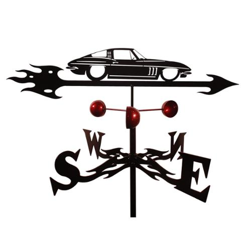 SWEN Products Handmade Chevy Corvette Auto Car Steel Weathervane by Overstock