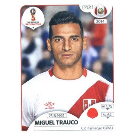 - 2018 Panini World Cup Stickers Russia #237 Miguel Trauco Peru Soccer Sticker