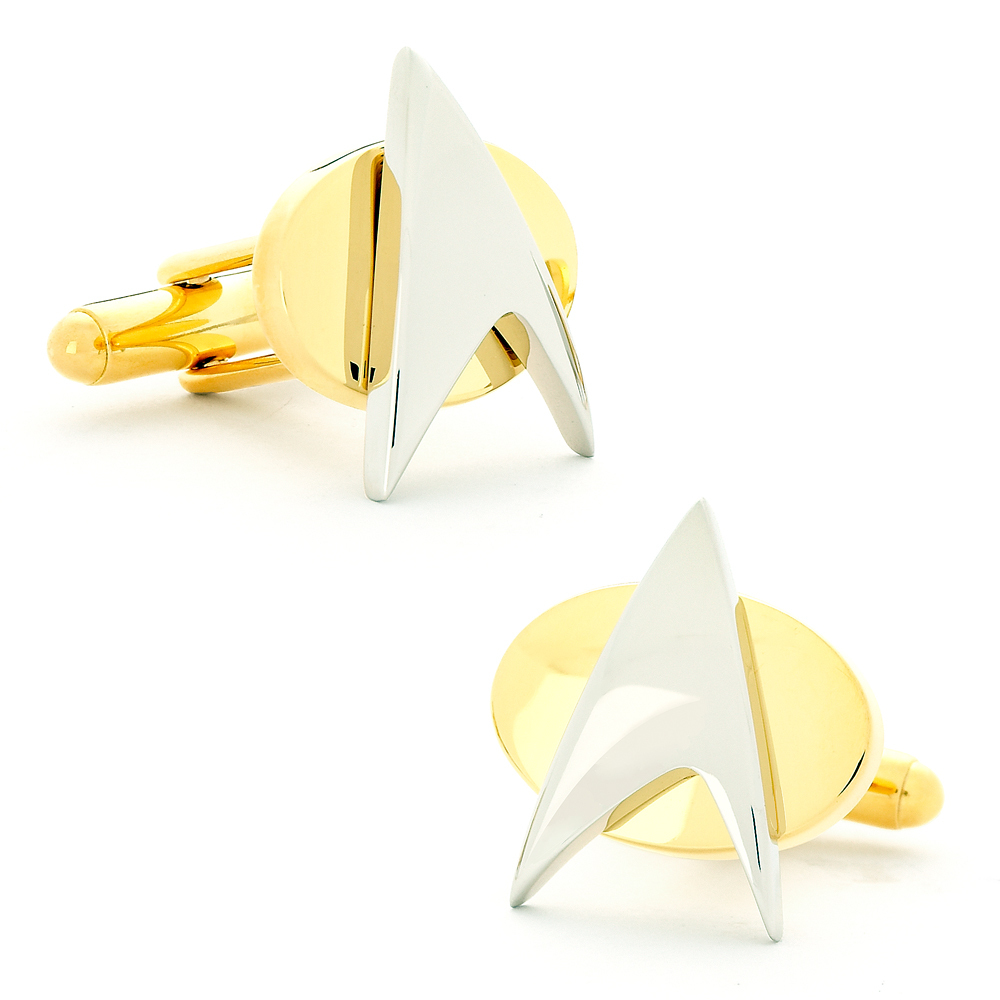 Two Tone Star Trek Delta Shield Cufflinks