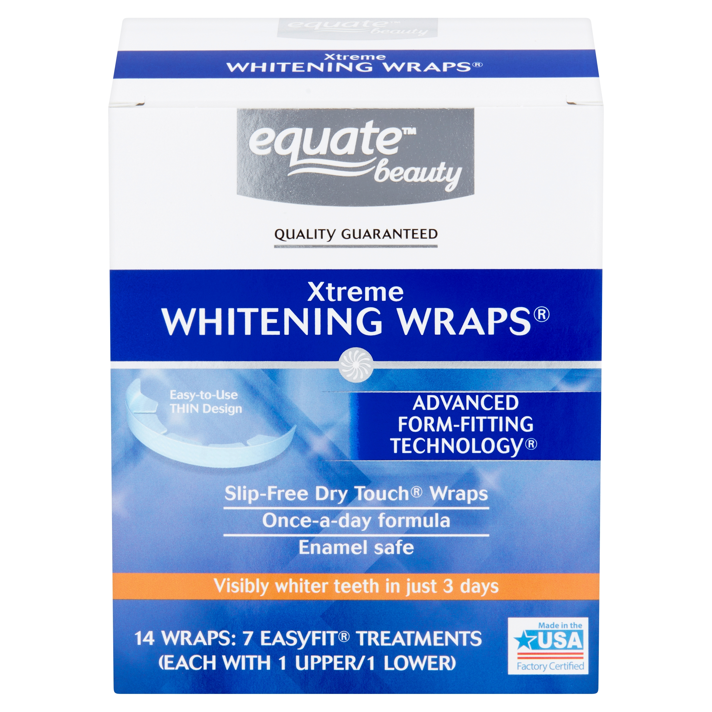 Equate Beauty Xtreme Teeth Whitening Wraps 7 Day Treatment Walmart Com Walmart Com