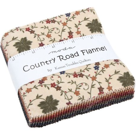 Country Road Flannel Moda Charm Pack by Kansas Troubles Quilters; 42 - 5