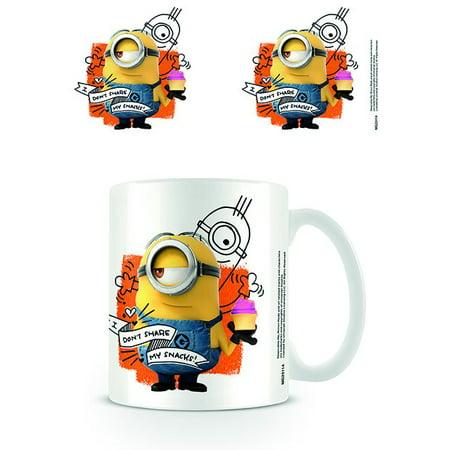Minions - Ceramic Coffee Mug / Cup (I Don't Share My Snacks) - Minions Merchandise