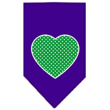 Polka Dot Bandana (Green Swiss Dot Heart Screen Print Bandana Purple)