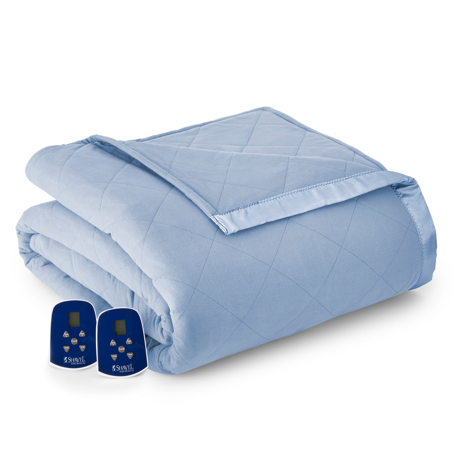 Micro Flannel ® Electric Heated Quilted Down Alternative Comforter/Blanket