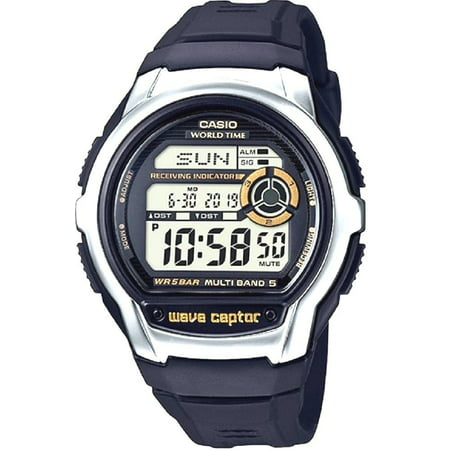 Black Waveceptor Watch (Waveceptor Atomic Sports)