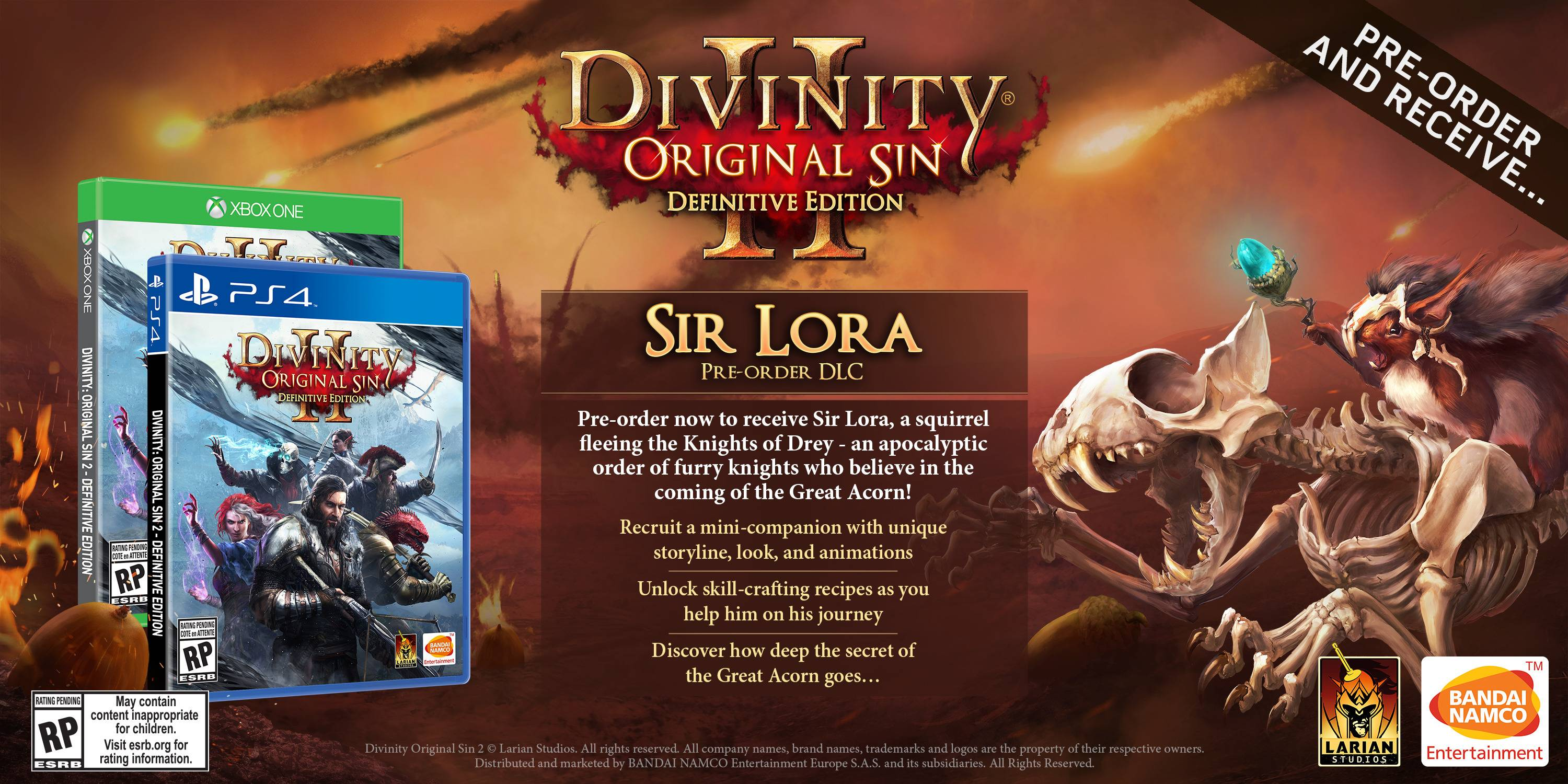 Divinity: Original Sin 2 Definitive Edition, Namco
