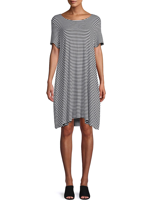 Petite Striped Swing Dress