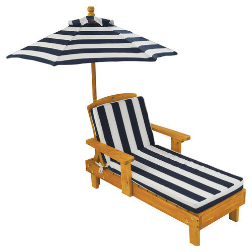 KidKraft Chaise Lounge with Cushion and Umbrella