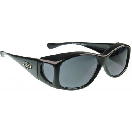 61999f8aa6 Fitovers Eyewear - Fitovers Eyewear - The Small Glide - Midnight Oil Frame  polarized Gray Lens - Walmart.com