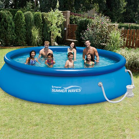 Summer waves 15 39 x 36 quick set inflatable above ground pool with filter pump Inflatable quick set swimming pool