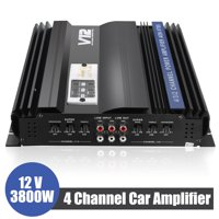 Professional 3800W RMS 4 CH Channel 4Ohm Powerful Super Loud Car Audio Power Stereo Amplifier Amp