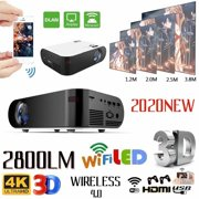 Best 3d Projectors - HD 1080P Mini Projector Multi-function Projector 2800LM High Review