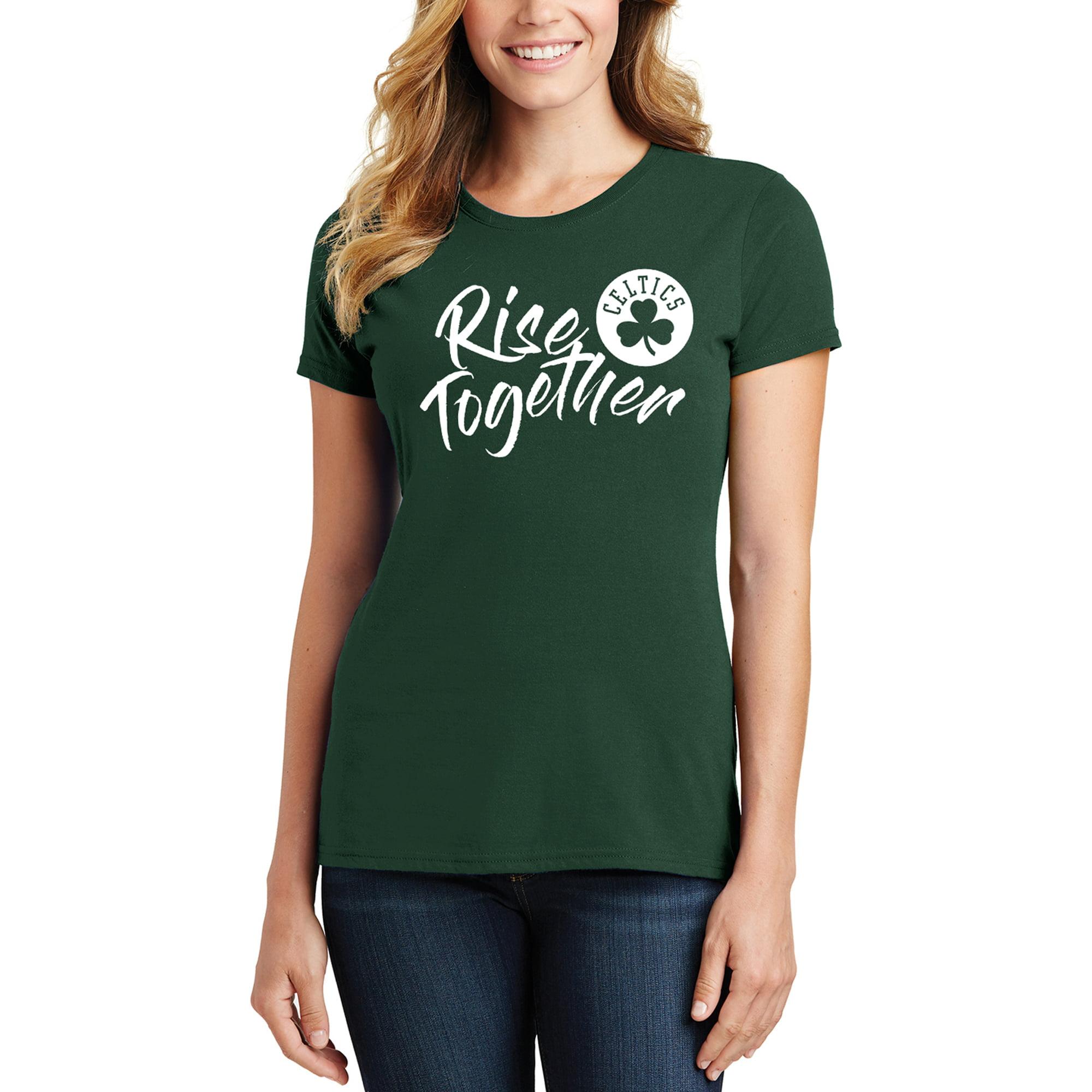 Boston Celtics Women's 2019 NBA Playoffs Bound Foil Applique T-Shirt - Green