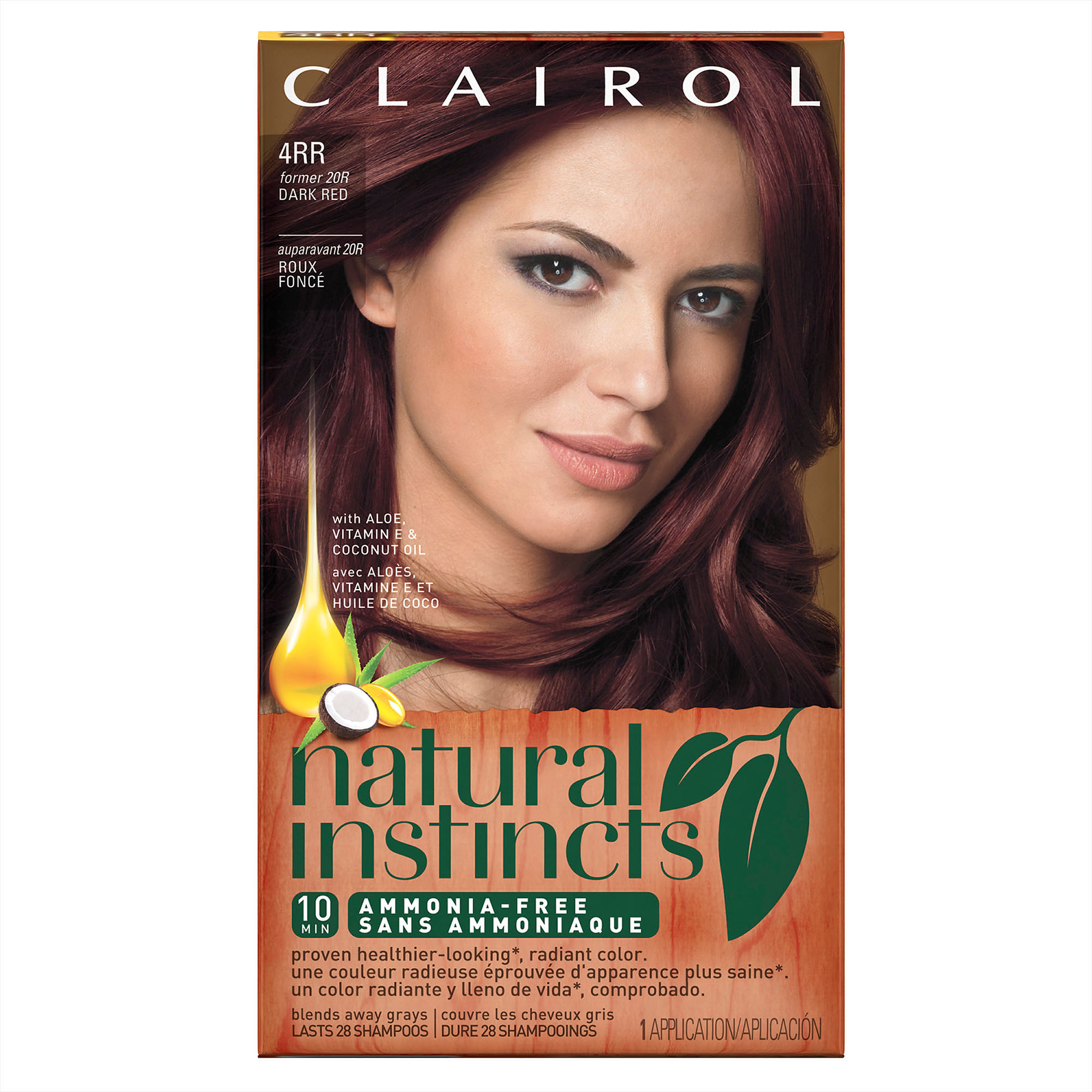Clairol Natural Instincts Semi Permanent Hair Color, Dark Red, 4RR    Walmart.com