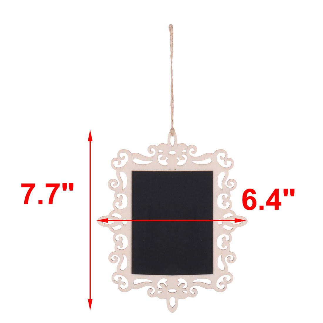 Family Wood Wavy Rectangle Decoration Message Standing Table Blackboard 5 Pcs - image 3 of 4