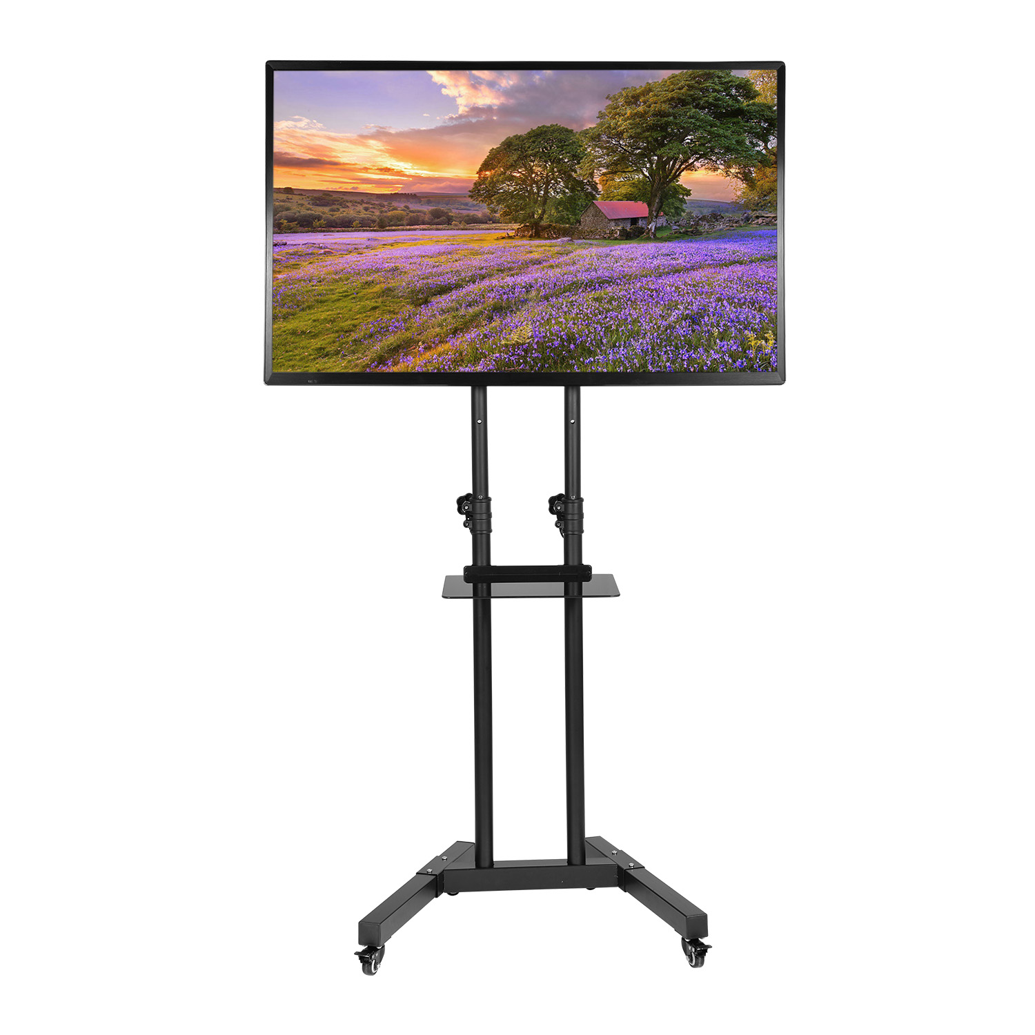 Mllieroo Universal 32 65 Inch Rolling Mobile Tv Stand Flat Screen Tv