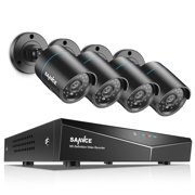 SANNCE 4CH DVR 4PCS HD 720P Security Cameras Home Video Night Vision Wired CCTV Camera System(Option: 0TB HDD,1TB HDD)