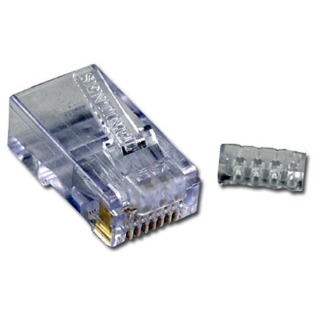 qvs cr6sd 100 cat6 rj45 50u crimp connectors with wire. Black Bedroom Furniture Sets. Home Design Ideas