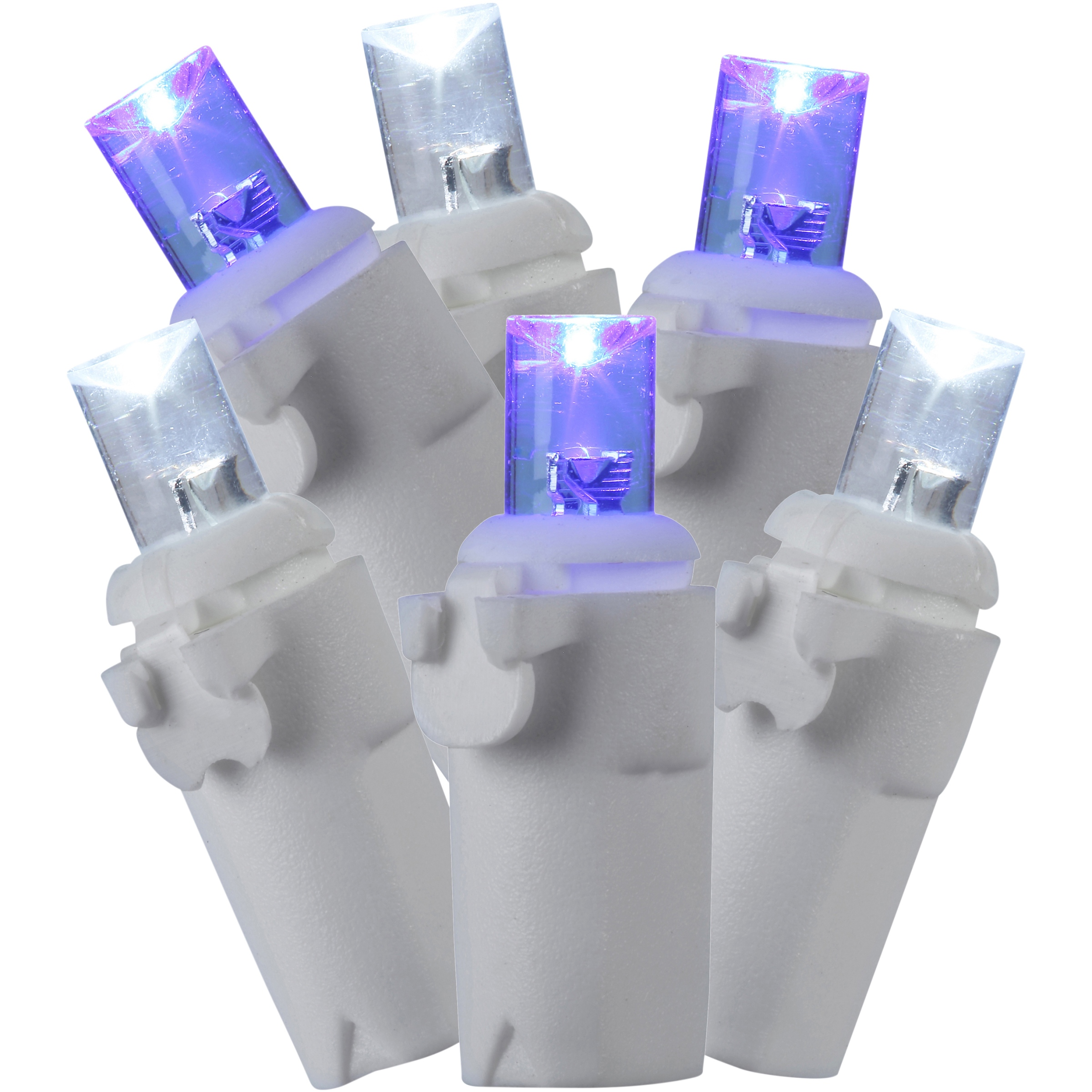 Holiday Time 70 Random Twinkle LED Icicle Lights Cool White & Blue Indoor or Outdoor Use