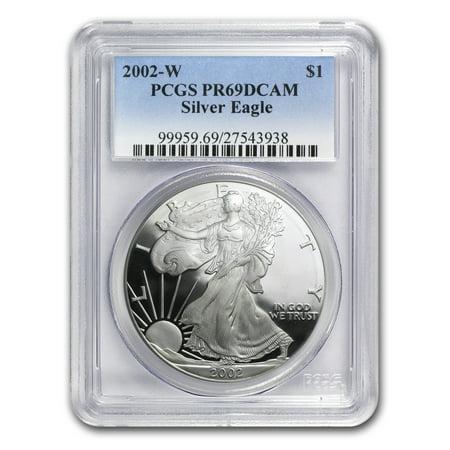 Silver Eagle Pcgs Gem (2002-W Proof Silver American Eagle PR-69 PCGS)