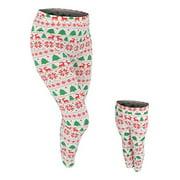 UB Womens Mommy and Me Winter Print Christmas Leggings (XXL)