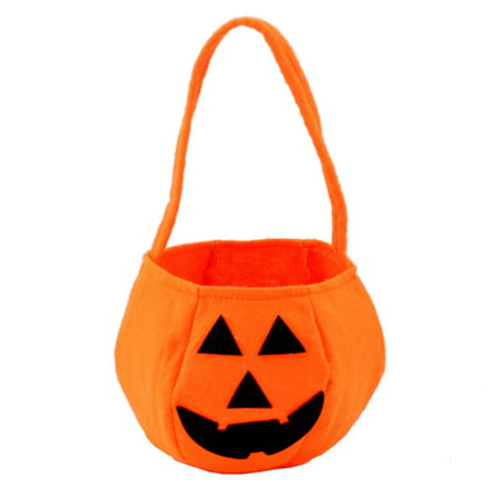 Halloween Pumpkin Bag Kids Candy Bucket Bag Trick Treat Bags for Kids Halloween Costume Party