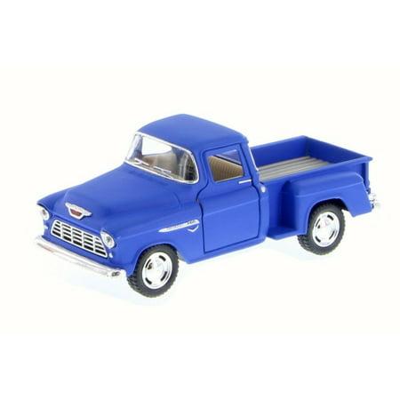 """5"""" Kinsmart 1955 Chevy Stepside 3100 PickUp Truck Diecast Model 1:32 Matte Blue"""