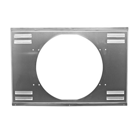Aluminum Emc Louvered Fan Shroud Single 16  Fan Fits 34 X19  Radiators Natural ALUMINUM EMC LOUVERED FAN SHROUD SINGLE 16  FAN (27-1/2  x 18-1/2 ) FITS 34 X19  RADIATORS - NATURALMaximize the cooling to your radiator with a CFR Performance radiator fan shroud. Adding a shroud to one of our radiators allows for 100% cooling of the radiator core which allows you to make more horsepower. Our shrouds were specifically designed to fit CFR Performance Ultracool & Ultracool II Aluminum Radiators. Will also work with other radiators that feature the same size core.Fan shrouds are pre-drilled for the CFR Performance electric fans. Will require modification to work with most aftermarket electric fans provided they are the correct size.Height:      18-1/2 Width:      27-1/2 Fan Size:      16  FanInstruction Manual available on CFR website (PDF)