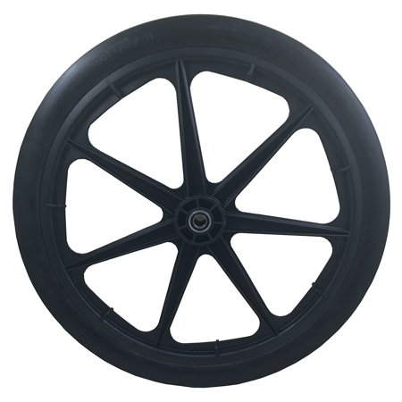 Marathon 20 Inch Flat Free Polyurethane Cart Tire on Rim with 0.75 Inch Bearing - image 3 of 5
