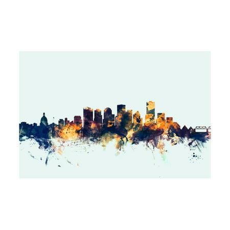 Edmonton Canada Skyline Print Wall Art By Michael Tompsett ()
