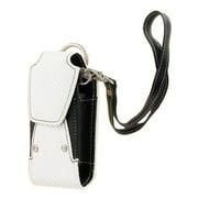 Xentris Universal Slim Fashion Rugged Pouch with Wrist Strap (White & Black)